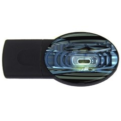 Spaceship Interior Stage Design Usb Flash Drive Oval (4 Gb)