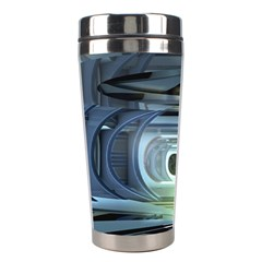 Spaceship Interior Stage Design Stainless Steel Travel Tumblers by Pakrebo
