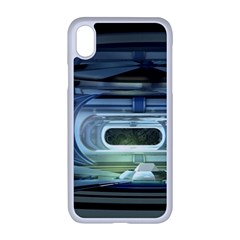 Spaceship Interior Stage Design Apple Iphone Xr Seamless Case (white)