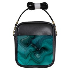 Abstract Graphics Water Web Layout Girls Sling Bag