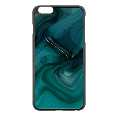 Abstract Graphics Water Web Layout Apple Iphone 6 Plus/6s Plus Black Enamel Case