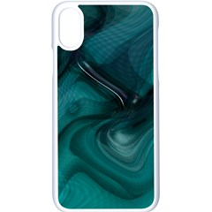 Abstract Graphics Water Web Layout Apple Iphone Xs Seamless Case (white)