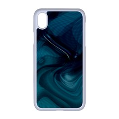 Abstract Graphics Water Web Layout Apple Iphone Xr Seamless Case (white)