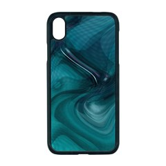 Abstract Graphics Water Web Layout Apple Iphone Xr Seamless Case (black)