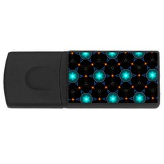 Ornament Pattern Color Background Rectangular Usb Flash Drive by Pakrebo