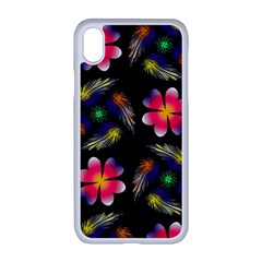 Pattern Flowers Wallpaper Apple Iphone Xr Seamless Case (white)