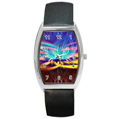 Colorful Chakra Lsd Spirituality Barrel Style Metal Watch