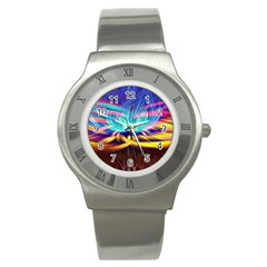 Colorful Chakra Lsd Spirituality Stainless Steel Watch