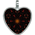 Ornament Background Tender Web Heart Necklace Front