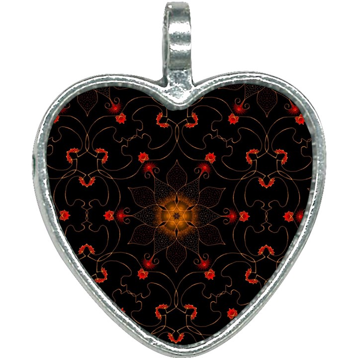 Ornament Background Tender Web Heart Necklace
