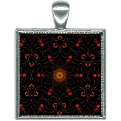 Ornament Background Tender Web Square Necklace