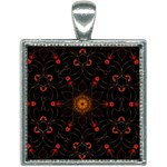 Ornament Background Tender Web Square Necklace Front