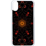 Ornament Background Tender Web Apple iPhone XS Seamless Case (White) Front