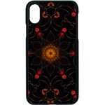 Ornament Background Tender Web Apple iPhone XS Seamless Case (Black) Front
