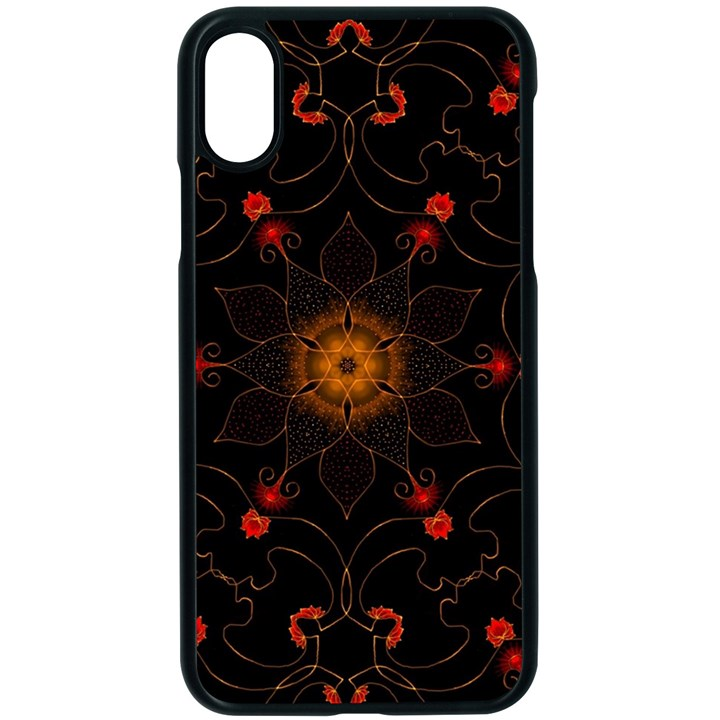 Ornament Background Tender Web Apple iPhone XS Seamless Case (Black)