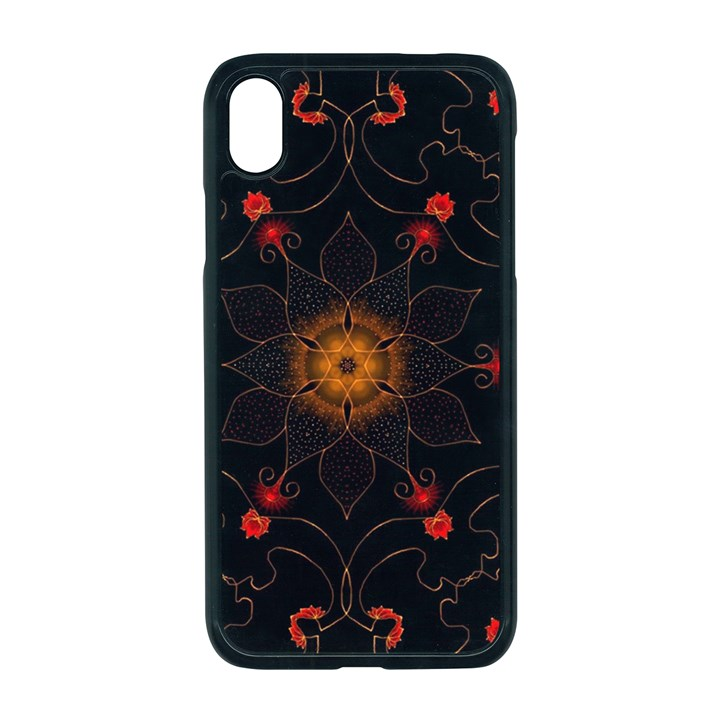 Ornament Background Tender Web Apple iPhone XR Seamless Case (Black)