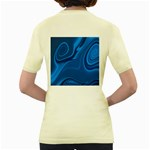 Rendering Streak Wave Background Women s Yellow T-Shirt Back