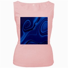 Rendering Streak Wave Background Women s Pink Tank Top