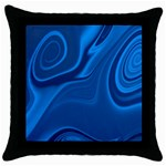 Rendering Streak Wave Background Throw Pillow Case (Black) Front
