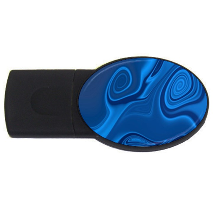 Rendering Streak Wave Background USB Flash Drive Oval (2 GB)
