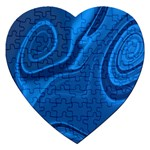 Rendering Streak Wave Background Jigsaw Puzzle (Heart) Front