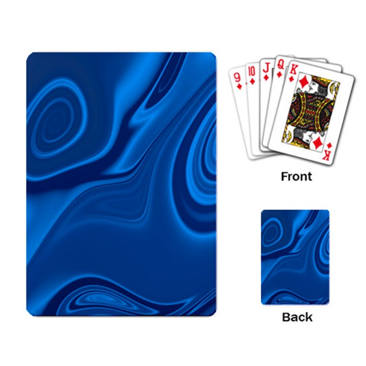 Rendering Streak Wave Background Playing Cards Single Design