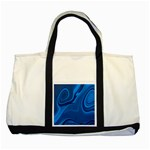 Rendering Streak Wave Background Two Tone Tote Bag Front