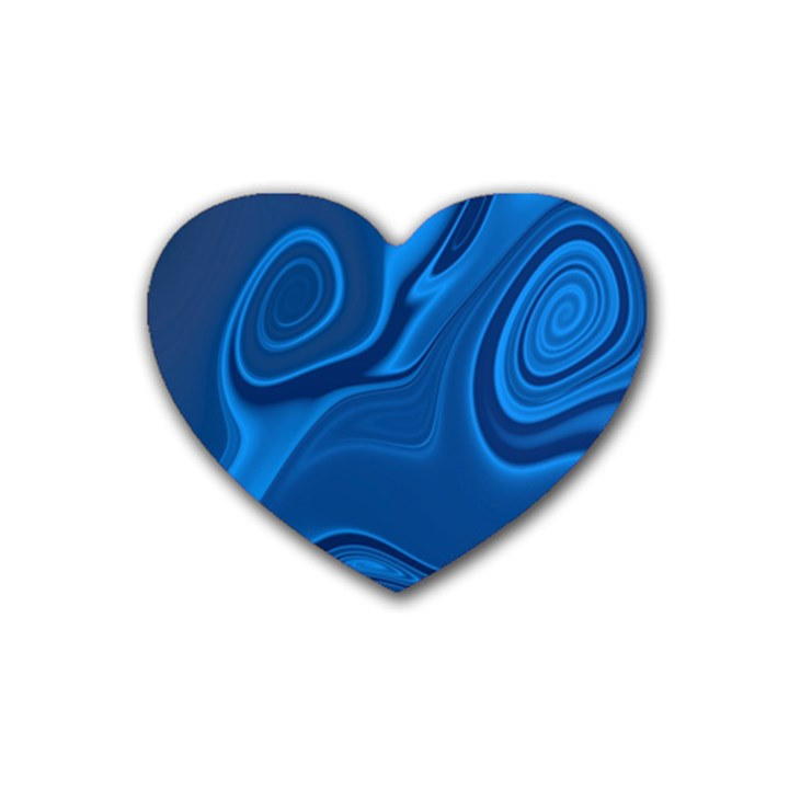 Rendering Streak Wave Background Heart Coaster (4 pack)