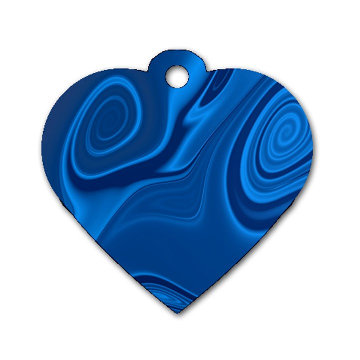 Rendering Streak Wave Background Dog Tag Heart (Two Sides)