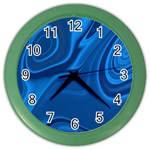 Rendering Streak Wave Background Color Wall Clock Front