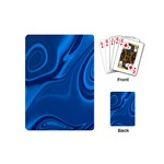 Rendering Streak Wave Background Playing Cards (Mini) Back