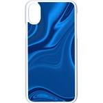 Rendering Streak Wave Background Apple iPhone X Seamless Case (White) Front