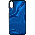 Rendering Streak Wave Background Apple iPhone X Seamless Case (Black) Front