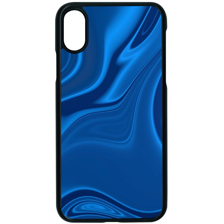 Rendering Streak Wave Background Apple iPhone X Seamless Case (Black)