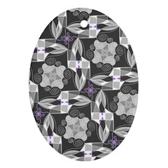 Ornament Pattern Background Ornament (oval)