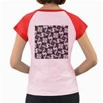 Ornament Pattern Background Women s Cap Sleeve T-Shirt Back