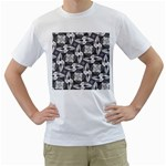 Ornament Pattern Background Men s T-Shirt (White) (Two Sided) Front