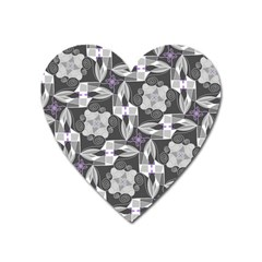 Ornament Pattern Background Heart Magnet