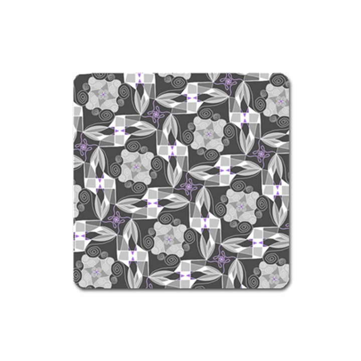 Ornament Pattern Background Square Magnet