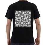 Ornament Pattern Background Men s T-Shirt (Black) (Two Sided) Back