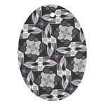 Ornament Pattern Background Oval Ornament (Two Sides) Back