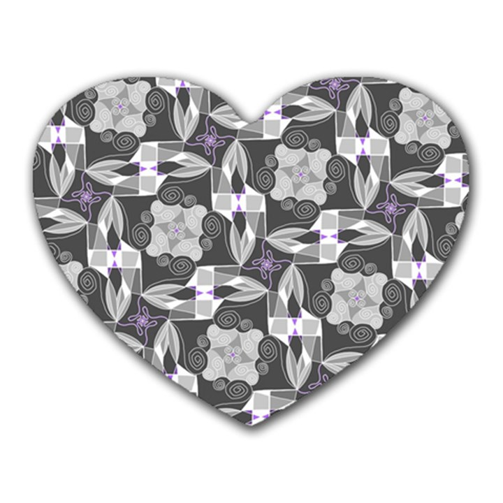 Ornament Pattern Background Heart Mousepads
