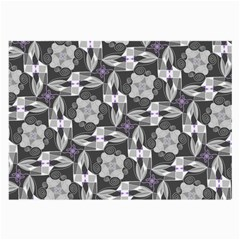 Ornament Pattern Background Large Glasses Cloth (2 Side)