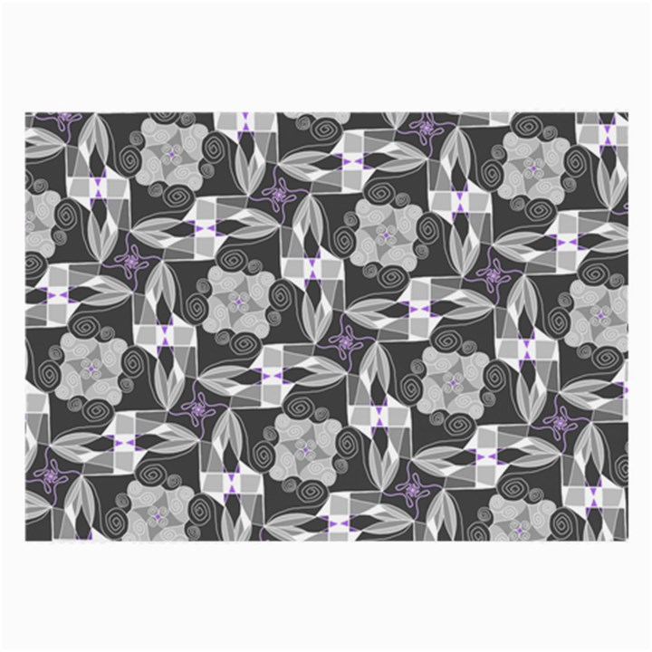 Ornament Pattern Background Large Glasses Cloth (2-Side)