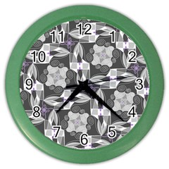 Ornament Pattern Background Color Wall Clock