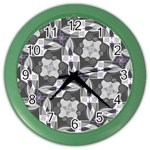 Ornament Pattern Background Color Wall Clock Front