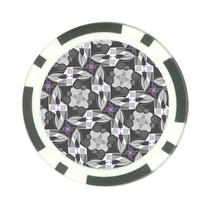 Ornament Pattern Background Poker Chip Card Guard