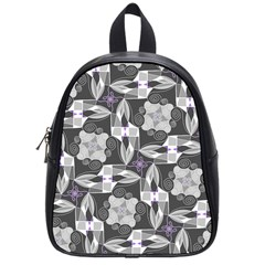 Ornament Pattern Background School Bag (small)