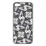 Ornament Pattern Background Apple iPhone 5 Case (Silver) Front