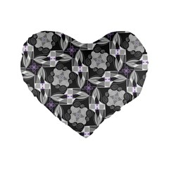 Ornament Pattern Background Standard 16  Premium Heart Shape Cushions